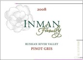 Inman Family Wines Pinot Gris,Russian River Valley,USA