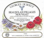 杜宝夫村庄级博若莱新酒(Georges Duboeuf Beaujolais Villages Nouveau, Beaujolais, France)