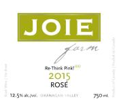 喜悦酒庄桃红葡萄酒(Joie Farm Rose,Okanagan Valley,Canada)