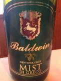 鲍德温迪格雷格迷雾干白葡萄酒(Baldwin Vineyards Mist Di Greco,NY,USA)