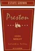 普雷斯顿梅洛干红葡萄酒(Preston Premium Wines Merlot,Columbia Valley,USA)