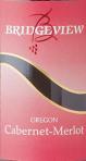 桥景精选赤霞珠-梅洛混酿干红葡萄酒(Bridgeview Winery Premium Cabernent Sauvignon-Merlot,Oregon,...)