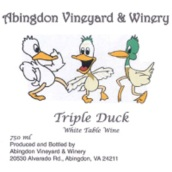 阿宾顿三只鸭子甜白葡萄酒(Abingdon Triple Duck White,Virginia,USA)
