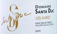 圣杜卡酒庄奥布红葡萄酒(Domaine Santa Duc Les Aubes,Vacqueyras,France)