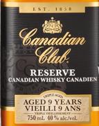 加拿大俱乐部珍藏9年加拿大威士忌(Canadian Club Reserve Aged 9 Years Canadian Whisky,Ontario,...)