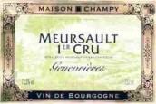 香皮酒庄杰奈弗利(默尔索一级园)红葡萄酒(Maison Champy Les Genevrieres, Meursault Premier cru, France)