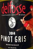 德尔夫斯灰皮诺白葡萄酒(DelFosse Pinot Gris,Monticello,USA)