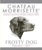 莫里赛特灰白狗甜白葡萄酒(Chateau Morrisette Frosty Dog, Virginia, USA)