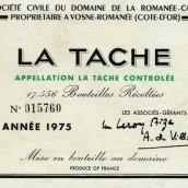 罗曼尼·康帝拉塔希园干红葡萄酒(Domaine de La Romanee-Conti La Tache, Vosne-Romanee, France)