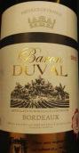 杜瓦尔男爵酒庄红葡萄酒(Baron Duval, Bordeaux, France)