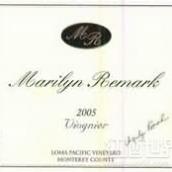 玛丽莲洛马太平洋维欧尼干白葡萄酒(Marilyn Remark Loma Pacific Vineyard Viognier,Monterey ...)