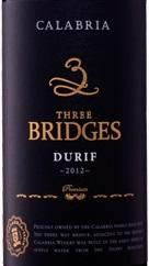 卡拉布里亚三桥杜瑞夫干红葡萄酒(Calabria Three Bridges Durif, Riverina, Australia)