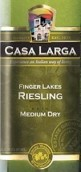拉尔加雷司令半干型白葡萄酒(Casa Larga Medium Dry Riesling, Finger Lakes, USA)