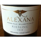 瑞瓦纳酒庄雷司令干白葡萄酒(Revana Estate Vineyard Riesling, Willamette Valley, USA)