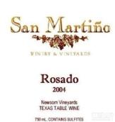 圣马丁诺桃红葡萄酒(San Martino Winery Rose,Texas,USA)