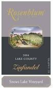 罗森布拉姆雪湖园仙粉黛干红葡萄酒(Rosenblum Cellars Snows Lake Vineyard Zinfandel, Lake County, USA)