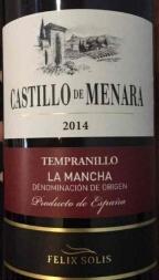 梅纳拉酒庄丹魄红葡萄酒(Castillo De Menara Tempranillo,La Mancha,Spain)