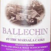 埃德拉多尔巴5批马沙拉桶陈重度泥煤味苏格兰单一麦芽威士忌(Edradour Ballechin#5 The Marsala Casks Heavily Peated ...)
