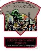 圣詹姆斯酒商精选维诺干白葡萄酒(St.James Winery Vintner's Select Vignoles,Ozark Mountain,USA)