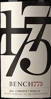 1775台赤霞珠-梅洛干红葡萄酒(Bench 1775 Winery Cabernet-Merlot,British Columbia,Canada)