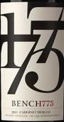 1775台赤霞珠-梅洛干红葡萄酒(Bench 1775 Winery Cabernet Sauvignon Merlot, British Columbia, Canada)