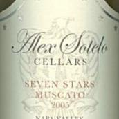 亚历克斯索特洛七星麝香干白葡萄酒(Alex Sotelo Cellars Seven Stars Muscato,Napa Valley,USA)