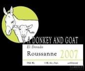 驴子与山羊瑚珊干白葡萄酒(A Donkey and Goat Roussanne,El Dorado,USA)
