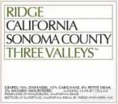 山脊三谷干红葡萄酒(Ridge Three Valleys, Sonoma County, USA)