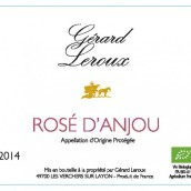 杰拉德·勒鲁酒庄安茹桃红葡萄酒(Domaine Gerard Leroux Rose d' Anjou,Anjou,France)