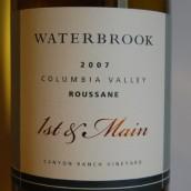水博客首选珊瑚干白葡萄酒(Waterbrook Roussanne 1st and Main,Columbia Valley,Washington...)