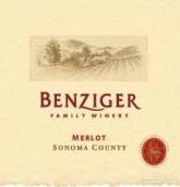 本齐格梅洛干红葡萄酒(Benziger Family Winery Merlot, Sonoma County, USA)