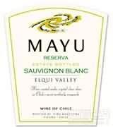 马玉珍藏长相思干白葡萄酒(Mayu Reserva Sauvignon Blanc,Elqui Valley,Chile)
