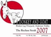 驴子与山羊隐士西拉干红葡萄酒(A Donkey and Goat The Recluse Syrah,Anderson Valley,USA)