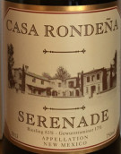 隆达纳小夜曲系列半甜型白葡萄酒(Casa Rondena Serenade, New Mexico, USA)