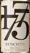 1775台奇尔干白葡萄酒(Bench 1775 Winery Chill,British Columbia,Canada)