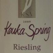 库卡之春雷司令干白葡萄酒(Keuka Spring Vineyards Riesling,Finger Lakes,USA)