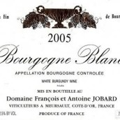 悦宝勃艮第干白葡萄酒(Antoine Jobard Bourgogne Blanc, Burgundy, France)