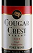 美洲狮酒庄波特酒(Cougar Crest Winery Estate Grown Port,Walla Walla Valley,USA)