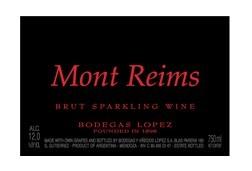 洛佩斯蒙特兰斯干型起泡酒(Bodegas Lopez Mont Reims Brut,Mendoza,Argentina)
