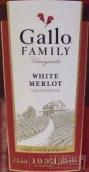 嘉露家族园梅洛桃红葡萄酒(Gallo Family Vineyards White Merlot,California USA)