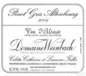 温巴赫奥登堡灰皮诺干白葡萄酒(Domaine Weinbach Pinot Gris Altenbourg,Alsace,France)