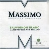 德利卡玛西莫顶级葡萄园长相思干白葡萄酒(Delicato Family Vineyards Massimo Prestige Vineyards Sauvignon Blanc, Marlborough, New Zealand)