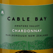 凯伯湾霞多丽干白葡萄酒(Cable Bay Chardonnay,Awatere Valley,New Zealand)