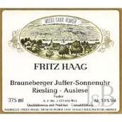 海格布朗伯哲朱弗日晷园12号金瓶封雷司令精选白葡萄酒(Fritz Haag Brauneberger Juffer Sonnenuhr Riesling Auslese Goldkapsel Fuder 12, Mosel, Germany)