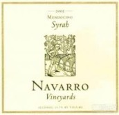 纳瓦罗西拉干红葡萄酒(Navarro Vineyards Syrah, Mendocino, USA)