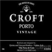 高乐福酒庄年份波特酒(Croft Vintage Porto, Douro, Portugal)