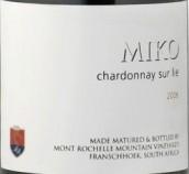 蒙罗歇尔米克霞多丽干白葡萄酒(酒泥陈酿)(Mont Rochelle Miko Chardonnay Sur Lie, Franschhoek Valley, South Africa)