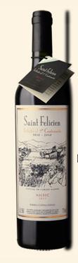 卡氏家族圣费利西安系列颂歌马尔贝克干红葡萄酒(Bodega Catena Zapata Saint Felicien Tributo,Mendoza,...)