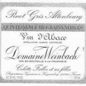 温巴赫奥登堡灰皮诺精选颗粒贵腐甜白葡萄酒(Domaine Weinbach Pinot Gris Altenbourg Quintessence de ...)