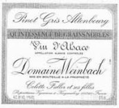 温巴赫奥登堡灰皮诺精选颗粒贵腐甜白葡萄酒(Domaine Weinbach Pinot Gris Altenbourg Quintessence de Grains Nobles, Alsace, France)